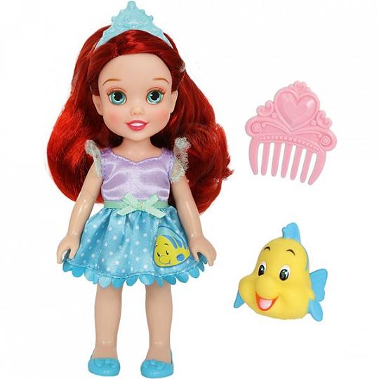 Купить Disney Princess 754940 Принцессы Дисней Малышка с питомцем 15 см, Ариэль