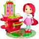 Strawberry Shortcake 12240 Шарлотта Земляничка Кукла 15 см и кафе/салон, 2 в асс-те