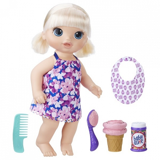 Baby Alive C1090 Малышка с мороженым