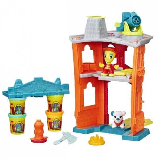Купить Hasbro Play-Doh B3415_9 Игровой набор Пожарная станция