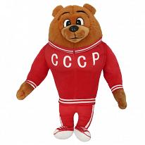SOFTOY A20090/32 Игрушка мягкая Медведь-спортсмен 32 см.