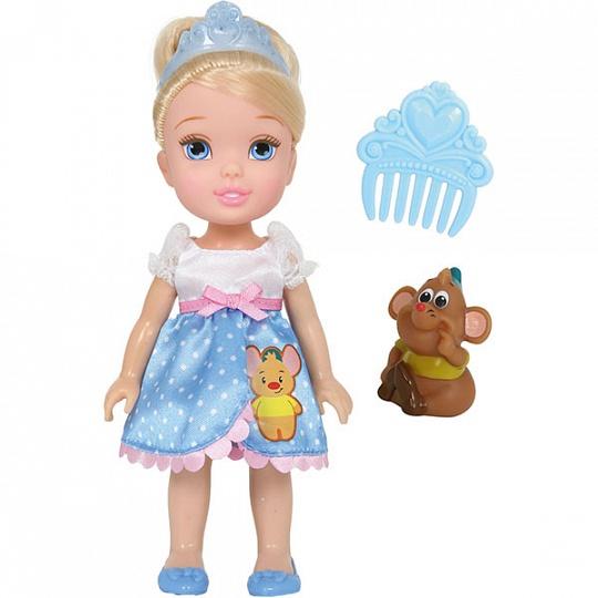 Купить Disney Princess 754920 Принцессы Дисней Малышка с питомцем 15 см, Золушка
