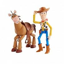 Mattel Toy Story GGB26 История игрушек-4, Набор из 2 фигурок Вуди и Буллзай