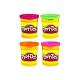 Play-Doh 22114/22873H Набор пластилина из 4х банок (неон. цв.)