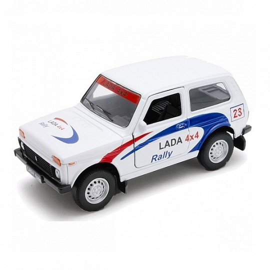 Купить Welly 42386RY Велли Модель машины 1:34-39 LADA 4x4 Rally